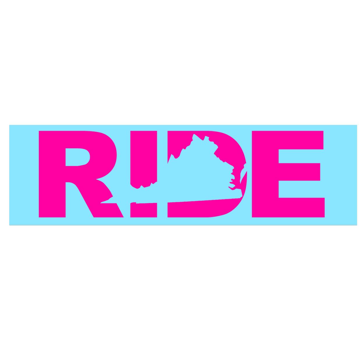 Ride Virginia Classic Decal (Pink Logo)