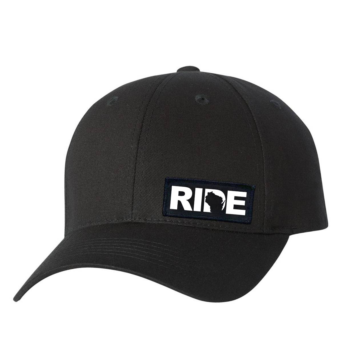 Ride Wisconsin Night Out Youth Woven Patch Hat Black (White Logo)