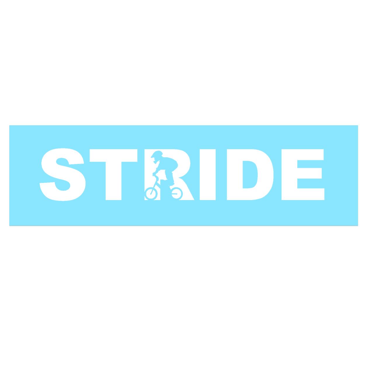 Stride Stunt Logo Classic Decal (White Logo)