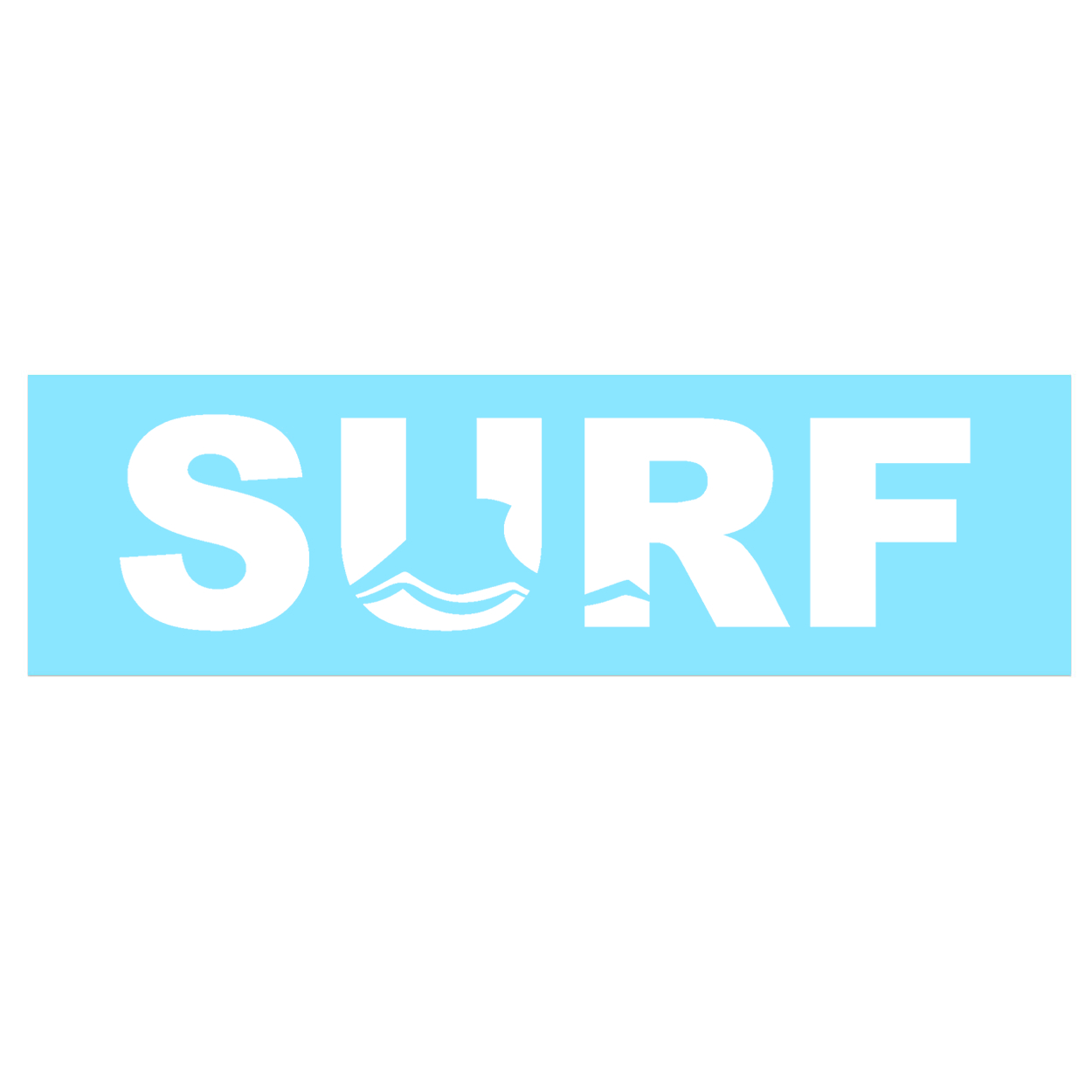 Surf Wave Logo Classic Decal (White Logo)