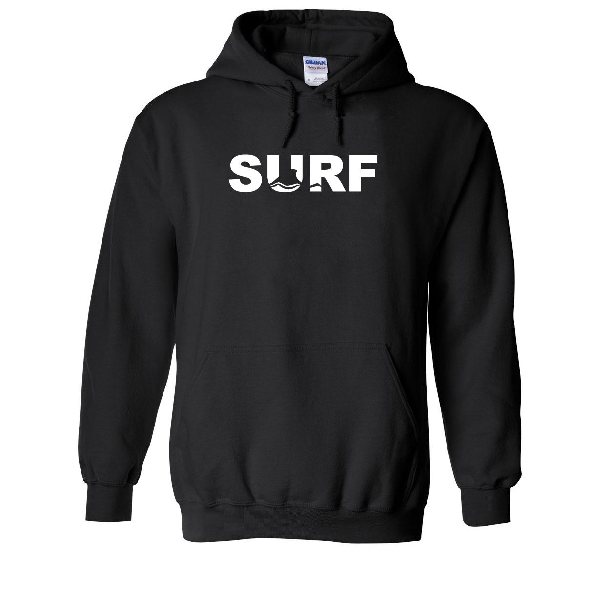Surf Wave Logo Classic Sweatshirt Black (White Logo)