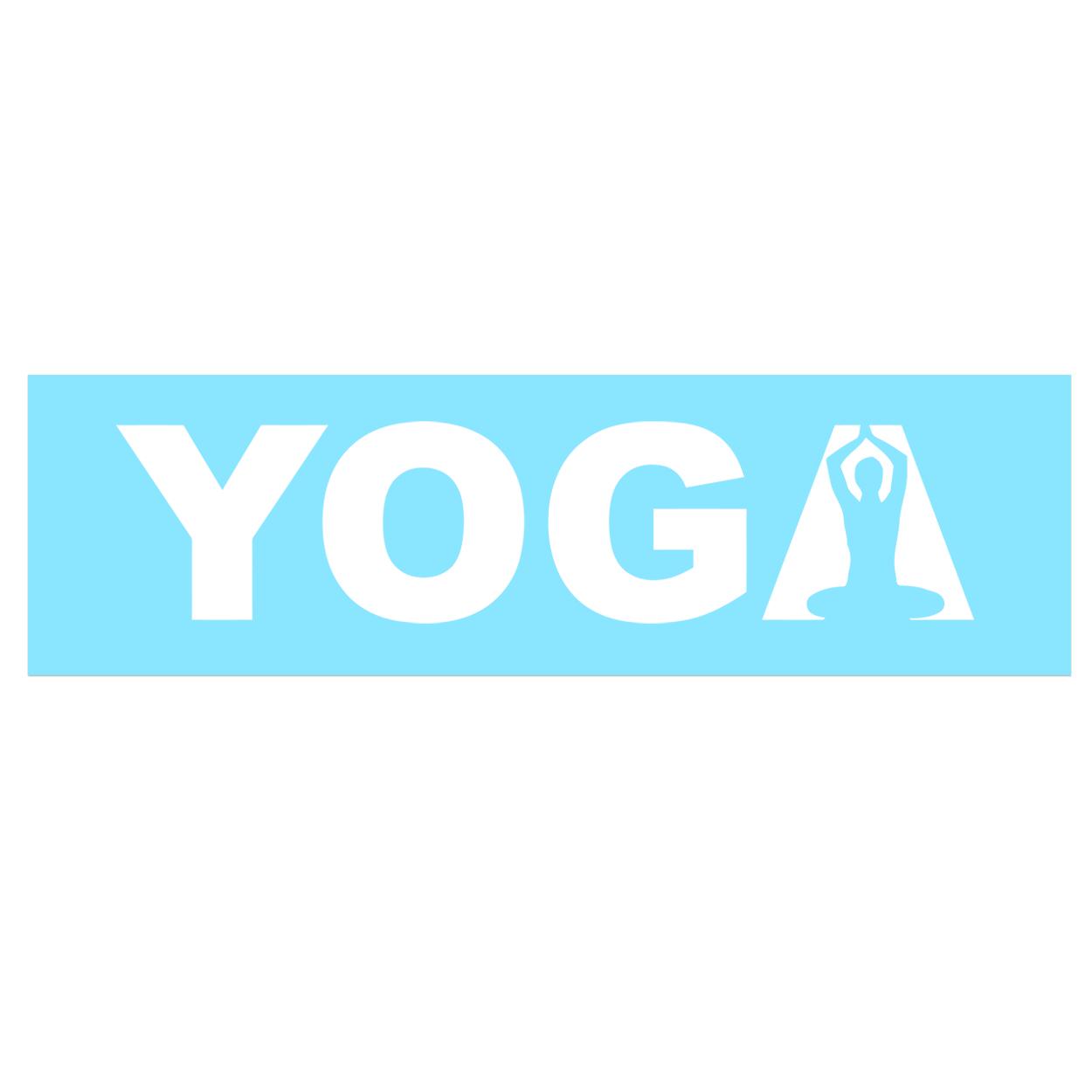 Yoga Meditation Logo Classic Decal (White Logo)