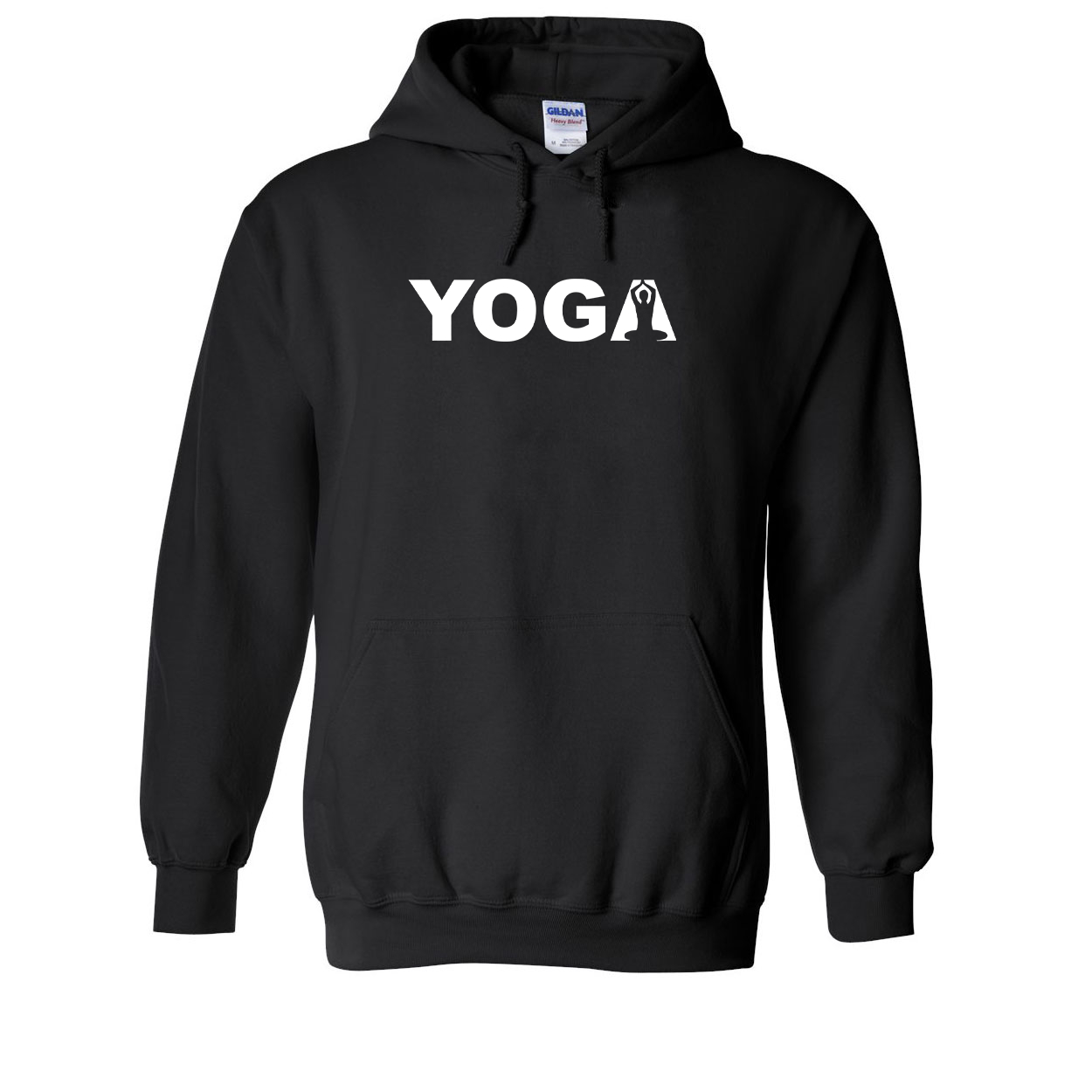 Yoga Meditation Logo Classic Sweatshirt Black (White Logo)