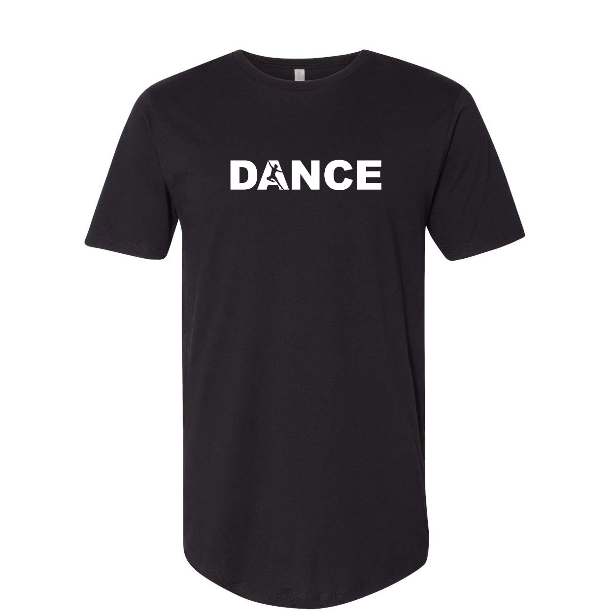 Dance Silhouette Logo Classic Premium Tall T-Shirt Black (White Logo)