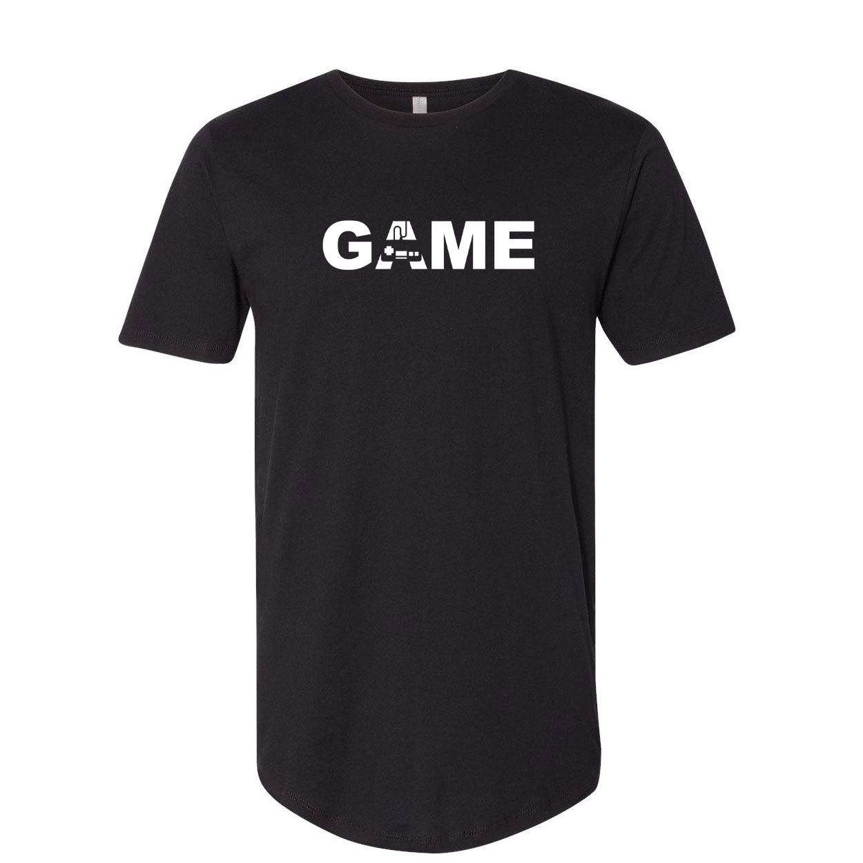 Game Controller Logo Classic Premium Tall T-Shirt Black (White Logo)