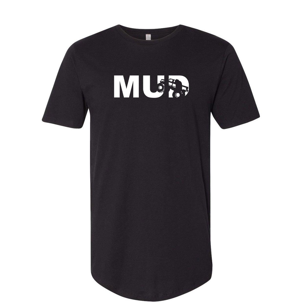 Mud Truck Logo Classic Premium Tall T-Shirt Black (White Logo)