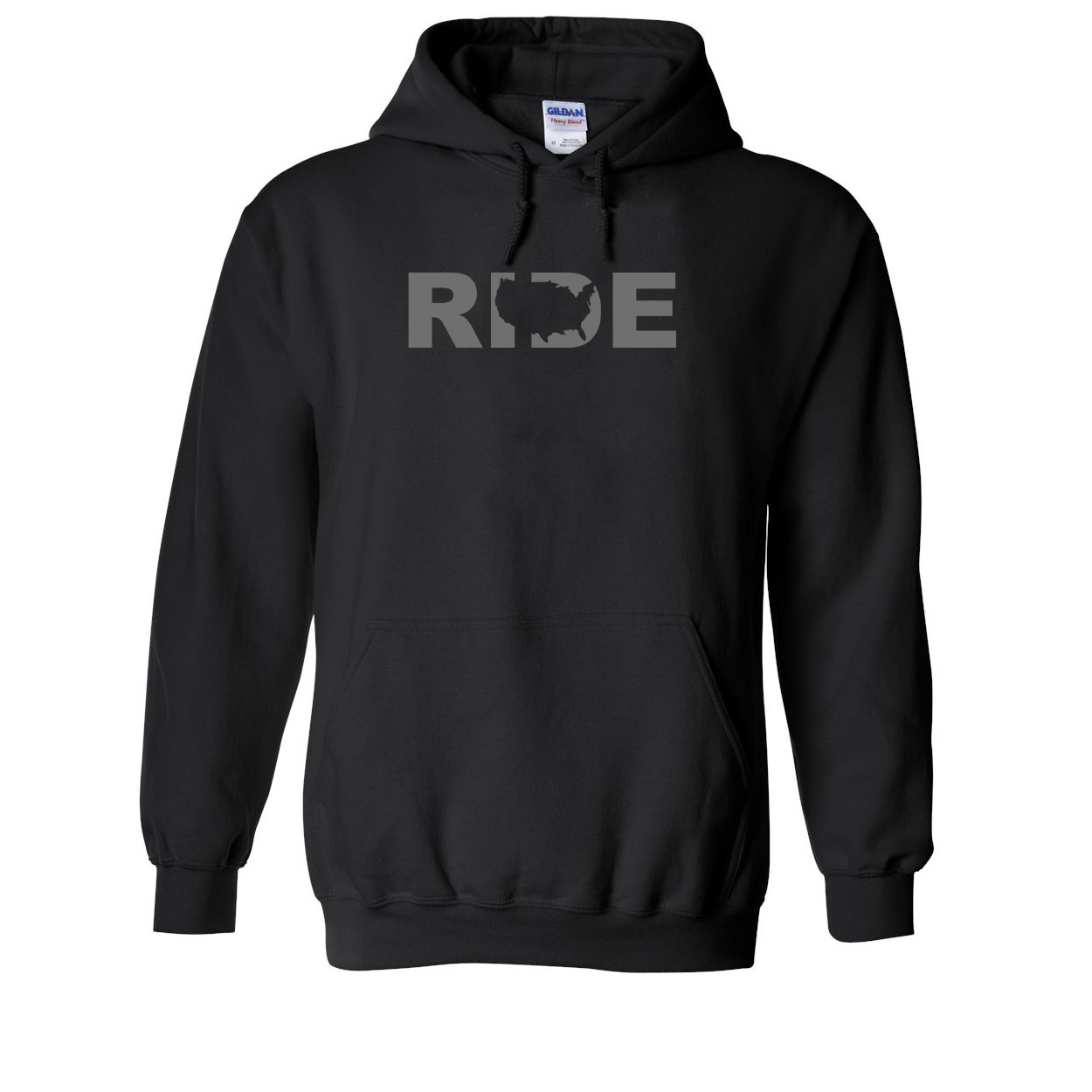 Ride United States Classic Sweatshirt Black (Gray Logo)