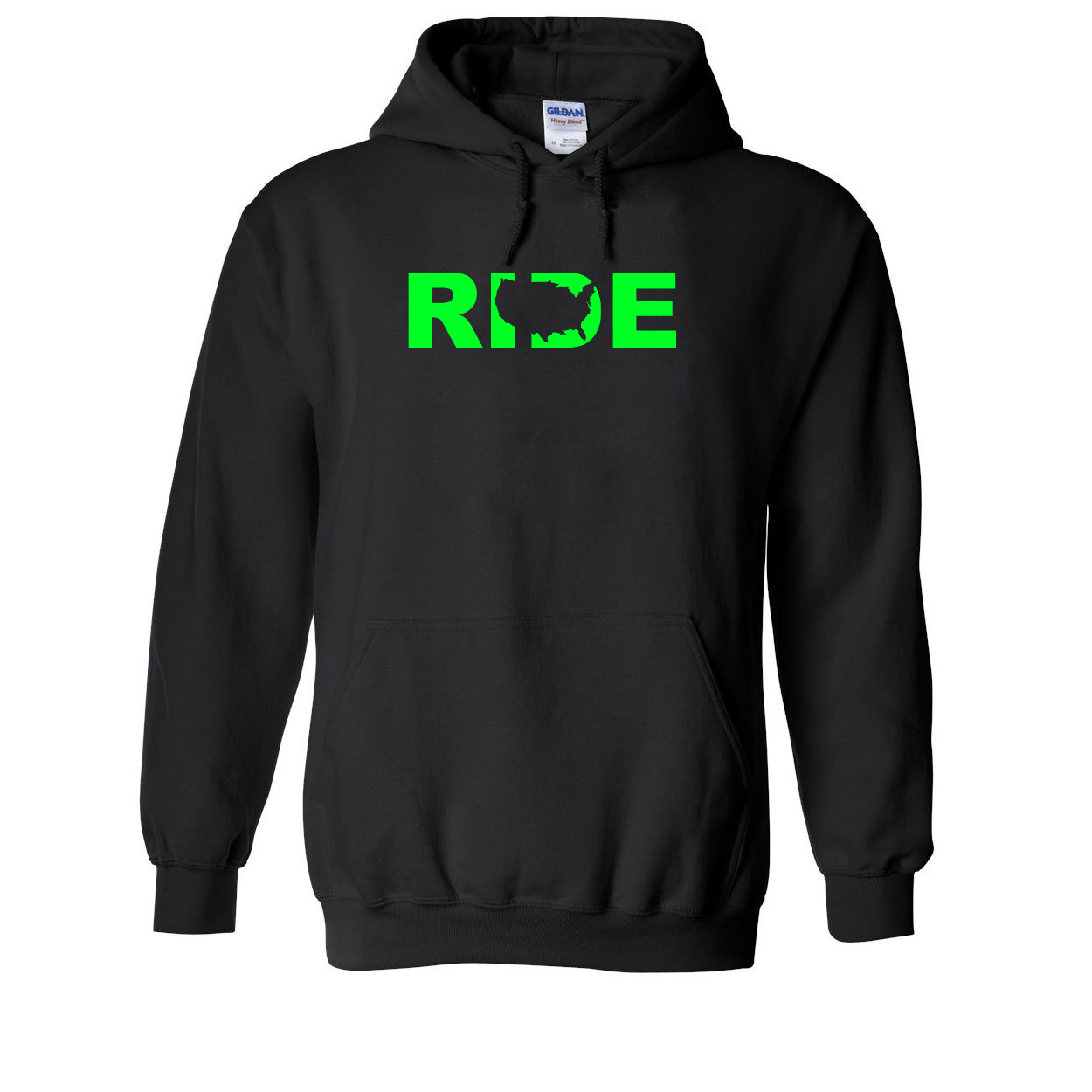 Ride United States Classic Sweatshirt Black (Green Logo)