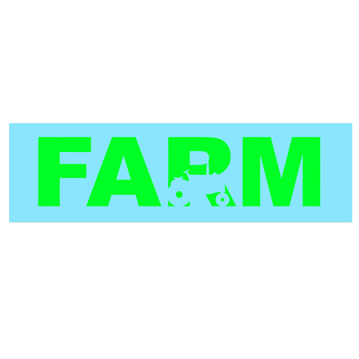 Farm Tractor Logo Classic Decal (Green Logo)