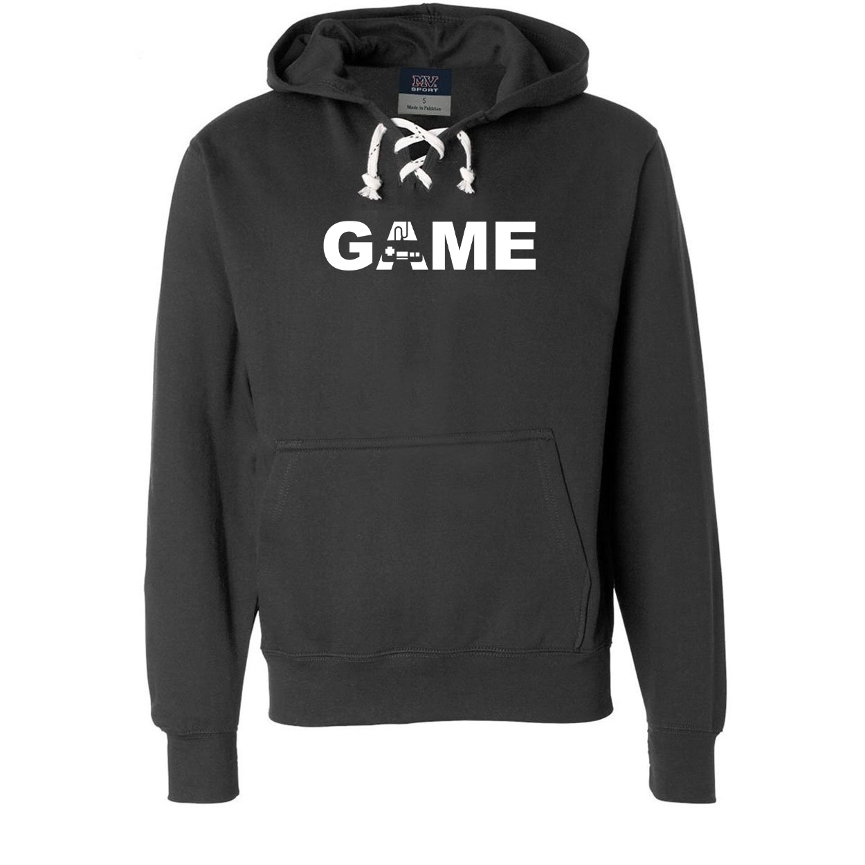 Game Controller Logo Classic Unisex Premium Hockey Sweatshirt Black (White Logo)