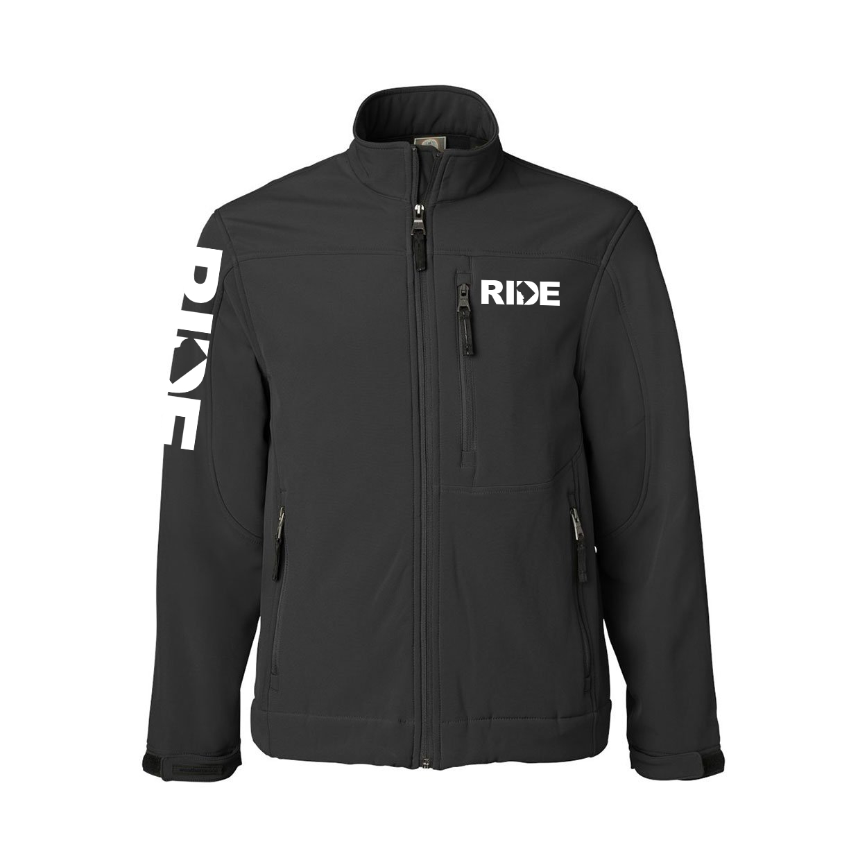 Ride District of Columbia Classic Soft Shell Weatherproof Jacket (White Logo)