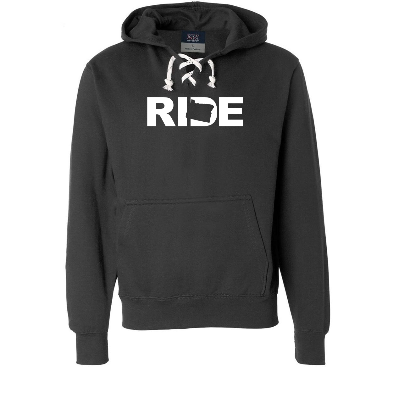 Ride Oregon Classic Unisex Premium Hockey Sweatshirt Black (White Logo)