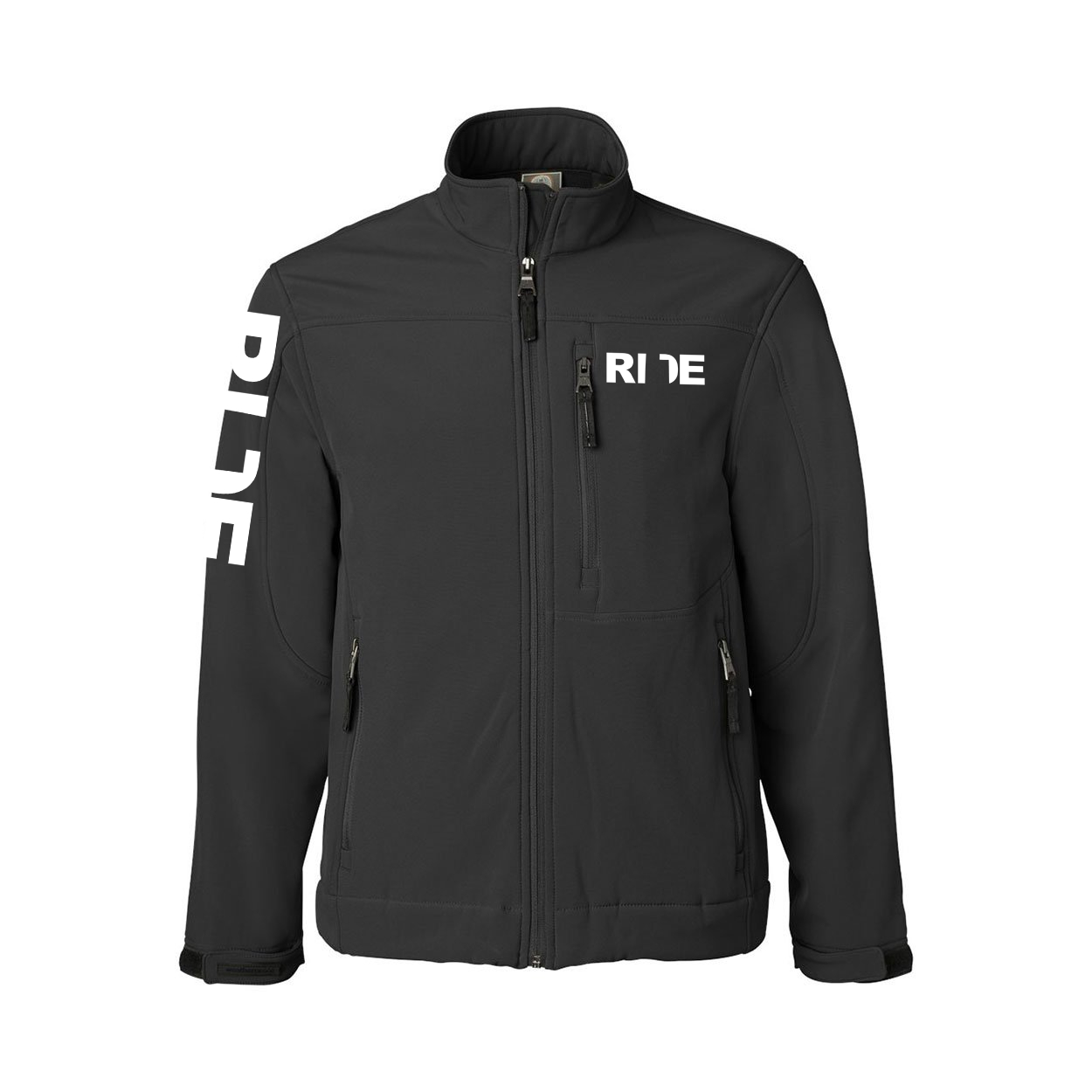 Ride Utah Classic Soft Shell Weatherproof Jacket (White Logo)